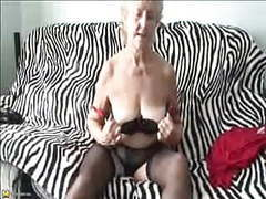 Old sexy 70y.o, granny loves to play movies at kilopics.com