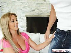 Busty blonde mom amber lynn bach fucking a large dick movies at freekiloporn.com