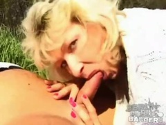 Sunny day sex in the grass with a cute blonde videos