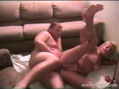 Small tits blonde blows and fucks with a fat guy movies at kilosex.com