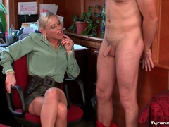 His cock and balls are tied up by mistress movies at freekilomovies.com