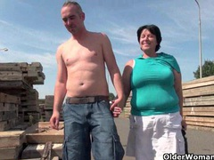 Ugly grandma with 1 inch nipples fucked outdoors videos