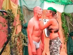 Drill sergeant girl abuses two naked guys movies at find-best-hardcore.com