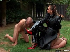 Mistress smokes cigar and uses guy as an ashtray movies at find-best-hardcore.com