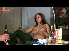 Couple does shots and gets naked for fun movies at kilopics.net