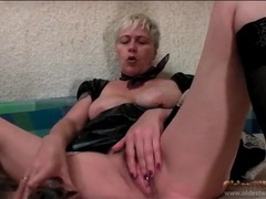 French maid outfit on a sexy mature chick movies at find-best-lesbians.com