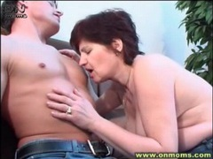Built young guy fools around with horny milf videos