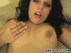 Amateur girlfriend gets anal fuck with creampie videos