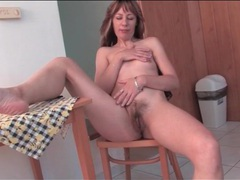 Sexy outfit on housewife that strips solo videos