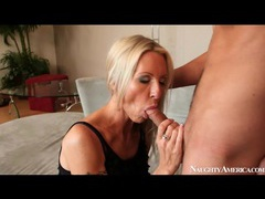 Arousing blowjob from sexy milf in black videos