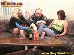 Chubby guy gets naked with two hot girls movies