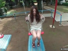 Sweater is sexy on japanese girl outdoors movies at sgirls.net