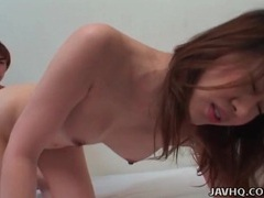 Shooting cum on her perfectly perky tits tubes at japanese.sgirls.net