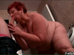 Bbw sucks skinny guy in the bathroom movies at sgirls.net