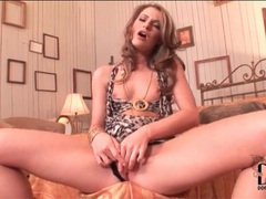 Skimpy leopard print dress on glamorous chick movies at find-best-hardcore.com