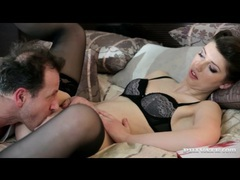 Classy lingerie on suzen sweet in pussy eating video movies at adipics.com