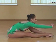 Ballet outfit looks sexy on skinny brunette videos