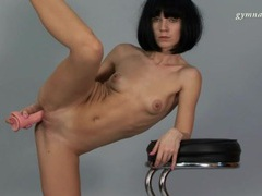 Flexible ballerina fucks pussy with dildo videos