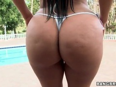 Big booty latina slut in thong bikini videos