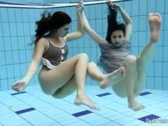Skinny brunette teens skinny dipping lustily movies