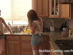 Nubiles casting - cameras roll on her very first hardcore shoot tubes