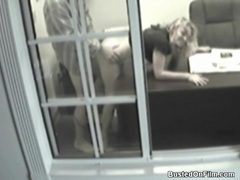 Security camera office fuck with blonde videos