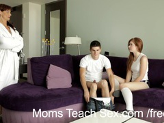Moms teach sex - redhead teen gets sex lesson from horny stepmommy videos