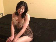 Leopard print lingerie on masturbating asian tubes at sgirls.net