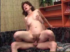 Hairy mature pussy fucked as she rides dick videos