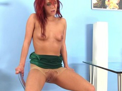 Ginger pee fetish babe rolls in urine movies at lingerie-mania.com