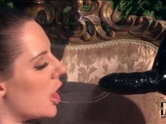 Latex mistress fucks girl with big strapon videos