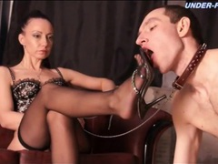 Commanding mistress in lingerie demands service movies at very-sexy.com