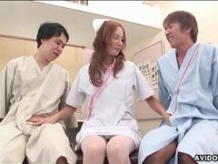 Adorable japanese nurse sucks dicks tubes at lingerie-mania.com