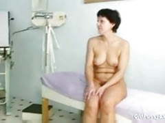 Mature woman eva visits gyno doctor to get gyno mature exam movies at find-best-lesbians.com