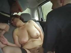Redhead-bbw-granny outdoors in a car by 2 guys movies at find-best-babes.com