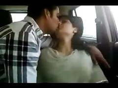 Northindian young couples enjoyed in car part-i movies at freekiloporn.com