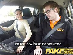 Fake driving school worst driver ever get fucked in the car clip