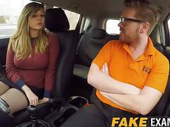 Curvy uk skank madison stuart banged at driving school car videos