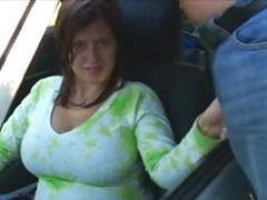 Busty boobiekat car blowjob through window tubes