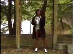 Crazy ebony mom fuckin in the car and outdoor movies at find-best-lingerie.com