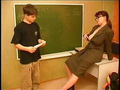 Russian teacher and boy tubes