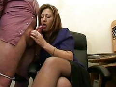 Hot mature secretary jerks the jizz from bosses cock ! movies at nastyadult.info