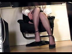 Leggy secretary under desk voyeur cam masturbation movies at find-best-hardcore.com