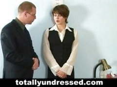 Nude job interview for shy secretary movies at freekilomovies.com