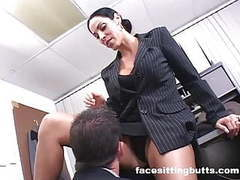Employee fucks the boss and keeps his lousy job movies at freekilomovies.com