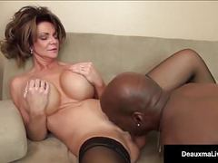 Milf boss, deauxma, can't fire her best worker's black cock! movies at kilovideos.com
