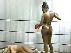 Retro interracial naked boxing movies