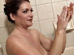 Amazing mature takes a bath videos