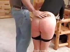 Blonde brat receives spanking for her disobedience movies at freekiloclips.com