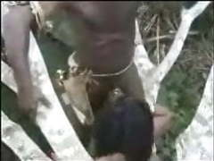 African amateurs threesome outdoor videos